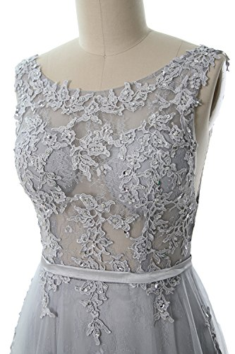 Neck Boat Party Gown Vintage Weinrot Formal Prom MACloth Lace Elegant Long Dress Wedding 4En4afBx