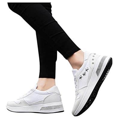 YiYLunneo Sequins Platform Sneaker, Shoes for Women Flats Comfortable Walking Breathable Athletic Sport Running Sneakers
