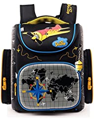 Delune Boys School bag Cartoon Large Capacity Orthopedic backpack