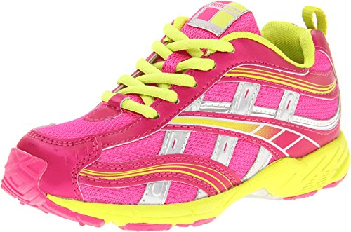 (TSUKIHOSHI Girl's, Lynx Youth 08 Sneaker Fuchsia Lime 5 M)