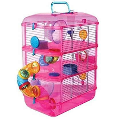 best deals on hot products sports shoes Amazon.com : Fantasia Grand Hamster Cage rose petite cage ...