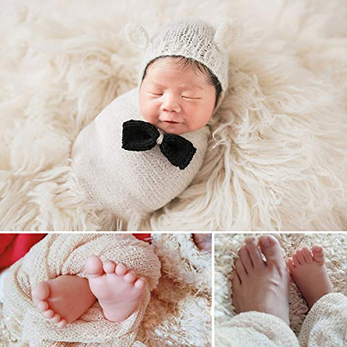 a895a062cc0 Aniwon 2 Pcs Baby Photography Props Photo Long Ripple Wrap Blanket for  Newborn
