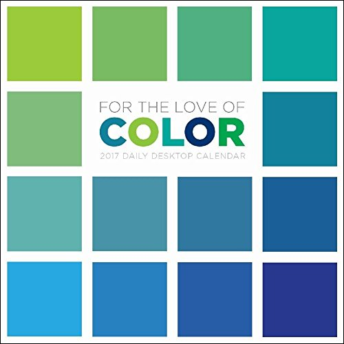 TF Publishing For the Love of Color 2017 Daily Desk Boxed Calendar
