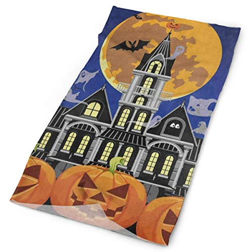 Airealy Variety Headscarf Custome Halloween Castle Pumpkin Ghost Bat Full Moon Headband Sports Headwear Outdoor Scarf Mask Neck Gaiter Head Wrap Sweatband -
