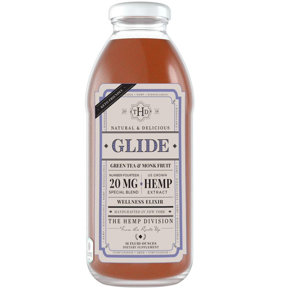 The Hemp Division, Glide Iced Tea, 16 oz. bottles (Pack of 12) by The Hemp Division