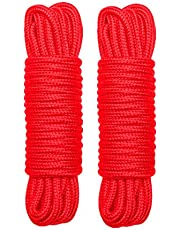 HELTHLYES Cotton Rope(5/16 Inch x 32 Feet) - Durable Multipurpose Rope,Set of 2