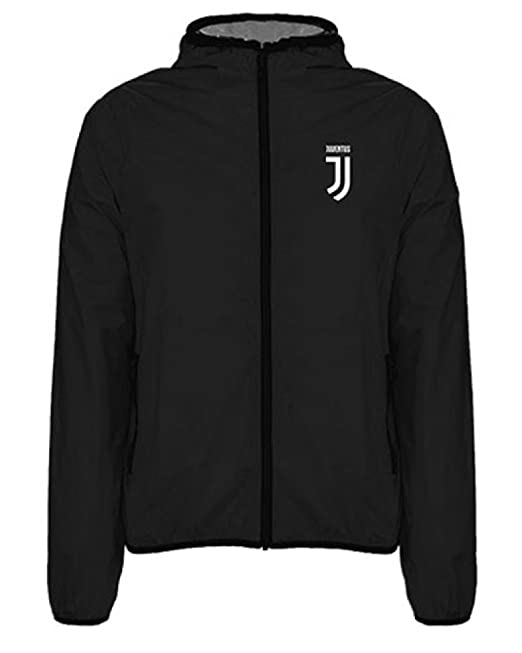 OfferSrl Giacca Juventus Bambino Antivento WindJacket Juve Nero PS 22370   Amazon.it  Abbigliamento cd3c5c71b29a
