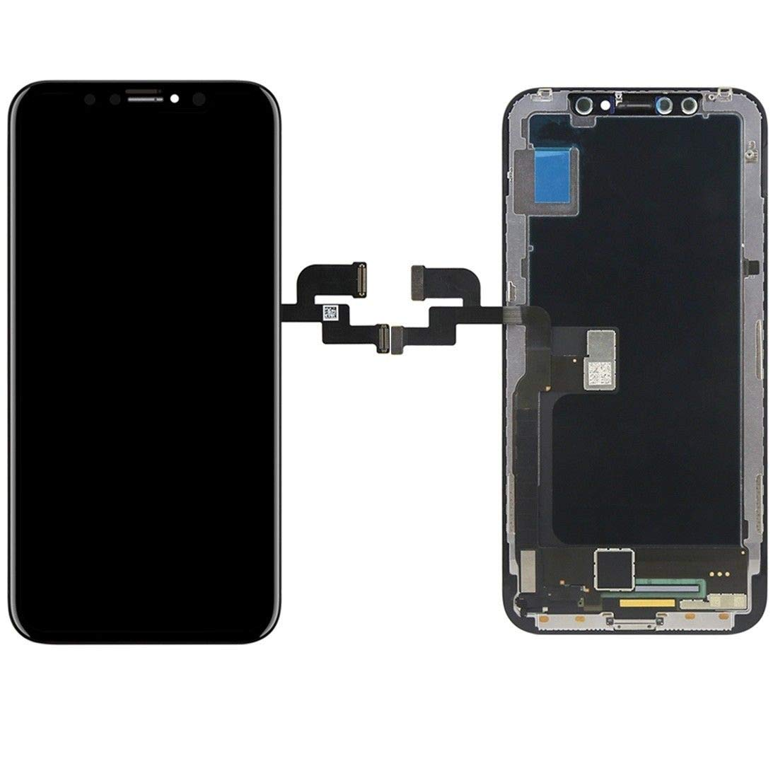 passionTR Screen Replacement fits iPhone X 5.8 inch Flexible OLED LCD Screen Display digitizer Assembly Full Complete Front Glass 3D Touch Screen (Black)