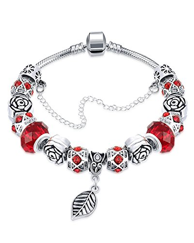 Young & Forever Women's Allure Collection Sterling Silver Plated Bracelets Charms Diy Bracelet. by Young & Forever