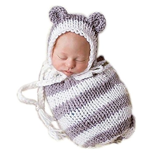 Newborn Infant Baby Boy Girl Costume Photography Props Outfits Lovely Hat Sleeping Bag