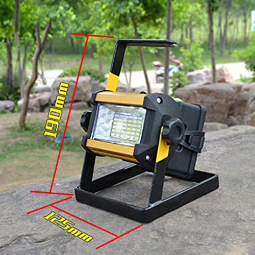 Led Flood Light, Napoo Portable 50W 36 LEDWaterproof Rechargeable Worklight Spot Work Lamp Emergency Light For Outdoor Camping, Working, Fishing by Napoo (Image #2)