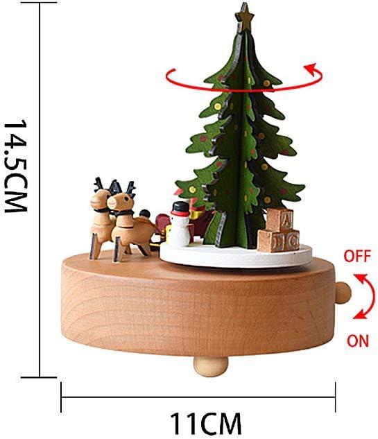 Feliz Navidad Caja de música, Caja de música de madera Árbol de Navidad Chica Caja musical para cumpleaños Boda Navidad: Amazon.es: Hogar