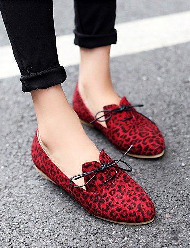 Toe Red zapatos Talón Cn39 Punta Toe De Flats blanco cerrado Amarillo Pdx Vestido Eu39 rojo casual Mujer Soporte us8 La Uk6 0fWwqa