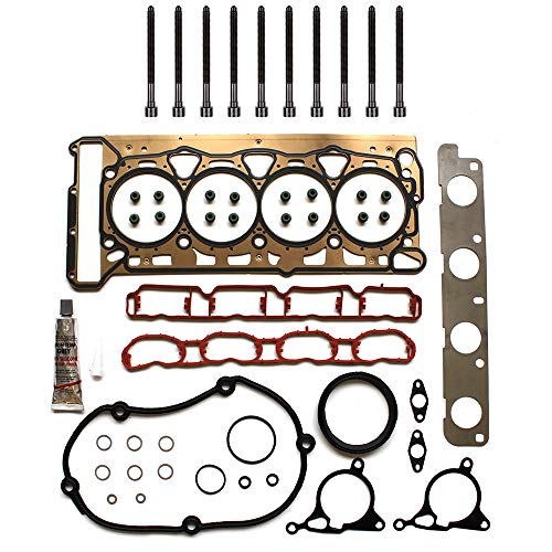 cciyu Engine Head Gasket Bolts Kit Replacement fit for 08-13 for Volkswagen Beetle Volkswagen Jetta Volkswagen Passat Audi A3 Audi A5 Quattro Audi Q5 Audi TT(06H198012)