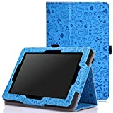 MoKo Case for Fire HD 7 2014 - Slim Folding Cover with Auto Wake / Sleep for Amazon Kindle Fire HD 7 Inch 4th Generation Tablet (Not Fits HD 7 2015), Cutie Charm BLUE