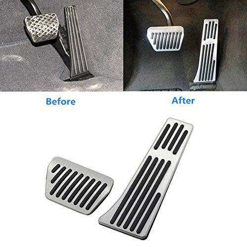 Jaronx for BMW No Drill Gas Brake Pedal, Anti-Slip Aluminium Alloy at Accelerator Brake Pedal Cover (Fits: BMW 1 2 3 4 5 6 7 X1 X3 X4 X5 X6 ()