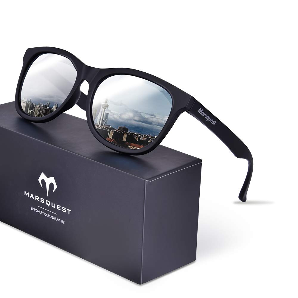 Polarized Sunglasses for Men Women - Anti-Slip Sports Sunglasses, UV 400 Protection with Super Lightweight Durable & Flexible TR-90 Frame (MOMENTUM COLLECTION)