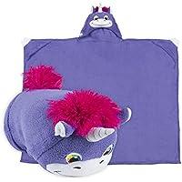 Comfy Critters Stuffed Animal Blanket – Unicorn – Kids...