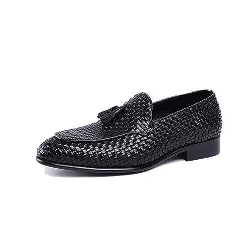Hombres, Zapatos De Cuero, Borlas, Mocasines, Inglaterra, Negocios, Comodidad, Transpirable, Hecho A Mano: Amazon.es: Zapatos y complementos