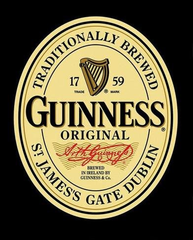 Beyond The Wall Guinness Label Vintage Beer Alcohol Advertising Art Poster Print (11x14 UNFRAMED Print)