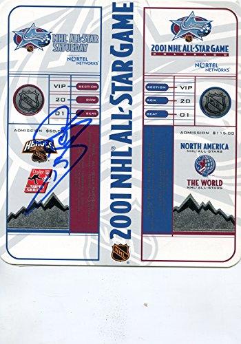 All 1986 Game Star Nhl (* JOE SAKIC * Colorado Avalanche signed 2001 NHL All Star Game unused ticket set / UACC Registered Dealer # 212)