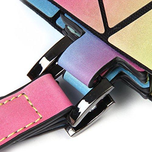 HotOne and Eco Rainbow Rainbow Handbags Luminous Purses Geometric Shard Purse Friendly Lattice Medium Leather Holographic r0qw1trx