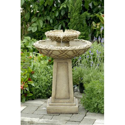 Polyresin & Fiberglass Tiered Bird Bath Fountain