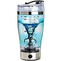 TiooDre - Cable para café, 450 ml batidora de proteínas eléctricas y batidora automática con