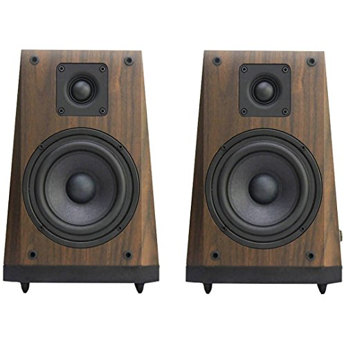 Arion Legacy Studio Quality 2.0 Speakers with 5 Inch Subwoofer, 1 Inch Tweeter, and Trapezoid Wooden Cabinets - AC Powered 80W RMS (AR604)
