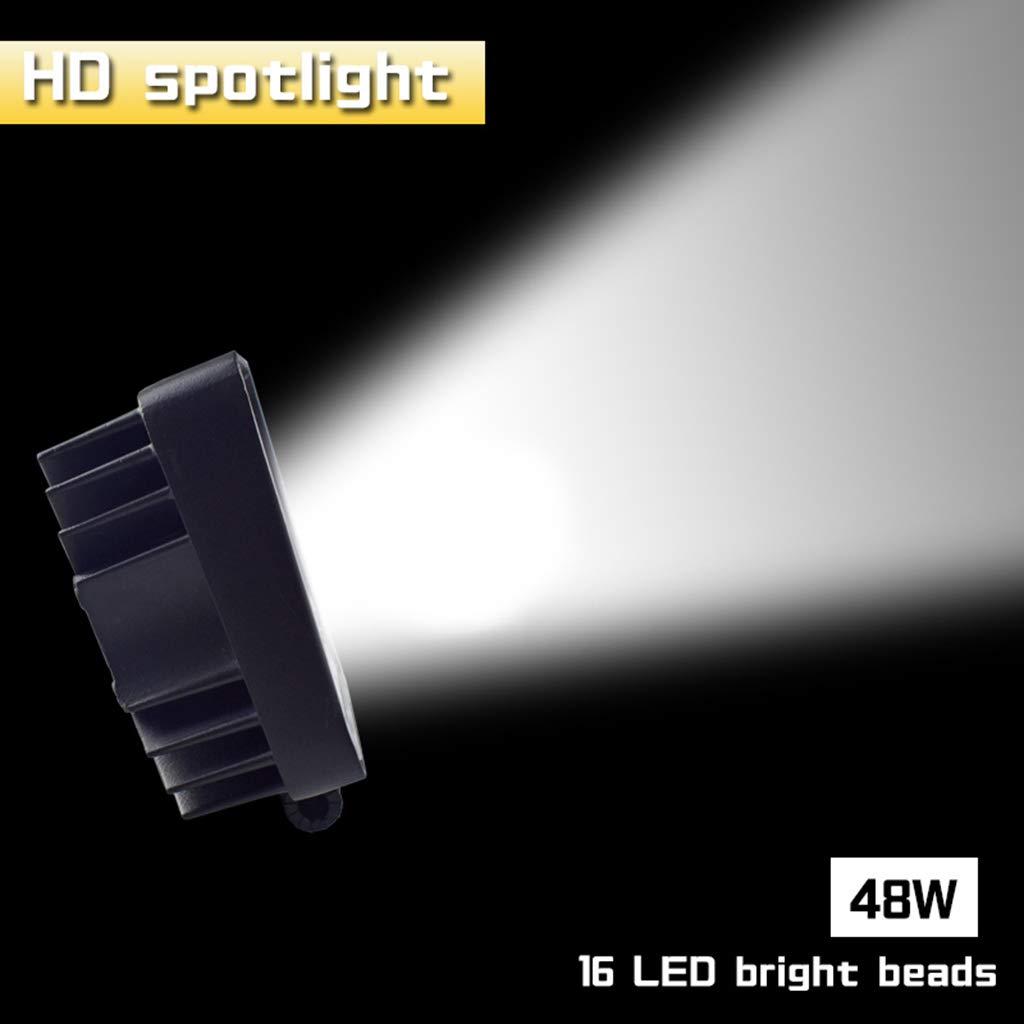 Phares de v/éhicule 48 W 16 LED Blanc froid Barre de lumi/ère 10,2 cm Lumi/ère de travail de v/éhicule /à LED camion pour SUV
