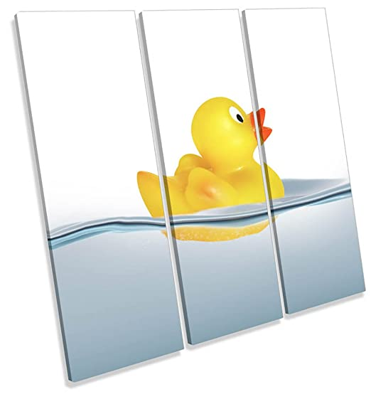 Amazon.com: Canvas Geeks - Bathroom Rubber Duck - 120cm wide x 120cm ...