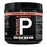 ProMix Nutrition Pre Workout Powder Strawberry Lemonade 40 Servings with Antioxidants Taurine Tyrosine Beta Alanine B12 For Sale