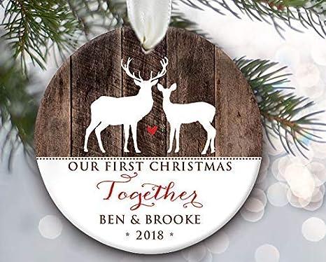 Amazon Com Rfy9u7 Our First Christmas Together Ornament