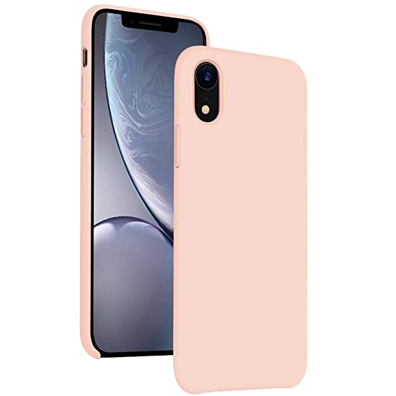new arrival 1a392 f8e69 DIACLARA iPhone XR Case Silicone, 6.1'' Hybrid Cases Classic Bumper  Shockproof Drop Protective Cover for Apple iPhone 2018 (Pink Sand, 6.1)