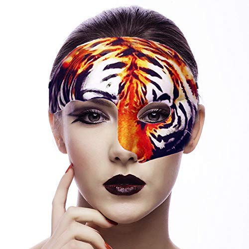Lubber Tiger Animal Half Mask for Halloween Party Costume Masquerade -