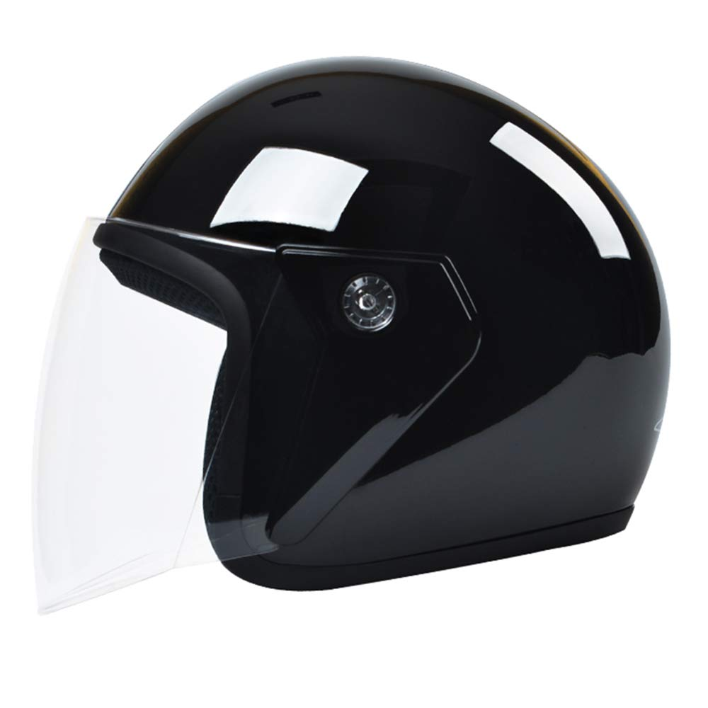 DANRAN Motorcycle Open Face Helmet 3//4 Half Helmet Sun Visor for Adult Men /& Women 54-60Cm ,A
