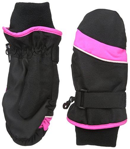 Nolan Gloves Big Girls' Powder Ski Mitten, Black/Pink, Small/Medium