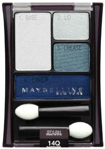 Maybelline New York Expert Wear Eyeshadow Quads, 14q Sapphi