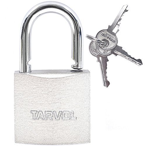 Steel Padlock With Keys (HEAVY DUTY SECURITY) 100% Waterproof - Safely Lock Interior or Exterior Gates, Sheds, Lockers, Bikes, Tool Box, or Containers. Includes 3 Master Keys