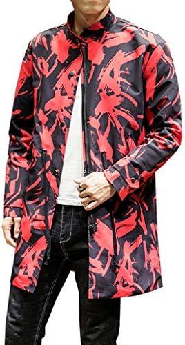ステンカラーコート トレンチコート メンズ 春秋 ロング丈 防寒 防風 スプリングコート 大きいサイズ 長袖 薄手 スタイリッシュ カジュアル ゆったり かっこいい 通勤 通学 普段着 柄 ブラック 赤 M-5XL