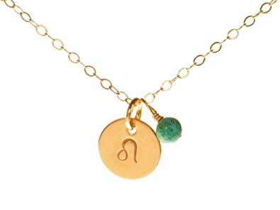 Amazoncom Efytal Leo Necklace Tiny Gold Filled Simple Zodiac