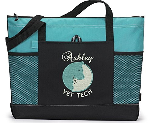 Veterinarian/ Vet Tech Personalized Embroidered Tote Bag by Simply Custom Life