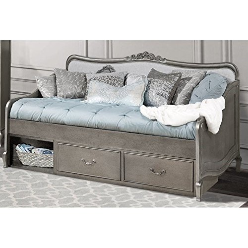 Hillsdale Kids and Teens 30040NS Kensington Elizabeth Daybed with Storage, Antique Silver (Trundle Unit Underbed)