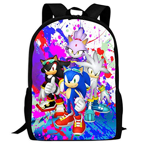 VSHFGC Sonic And Sha-dow The Hedg-ehog Children's School Bags Printing Backpacks Kids Daypack For Boys Girls