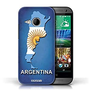 KOBALT? Protective Hard Back Phone Case / Cover for HTC One/1 Mini 2 | Argentina/Argentinean Design | Flag Nations Collection