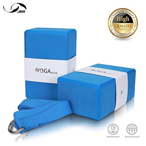 JBM Yoga Block plus strap with Metal D-Ring Yoga Brick Cork Yoga Block 6 colors - High Density EVA Foam...  yoga blocks 2 pack and strap | Yoga Blocks 2 Pack and Strap Set Combo Review 516Wbz  2BjWL