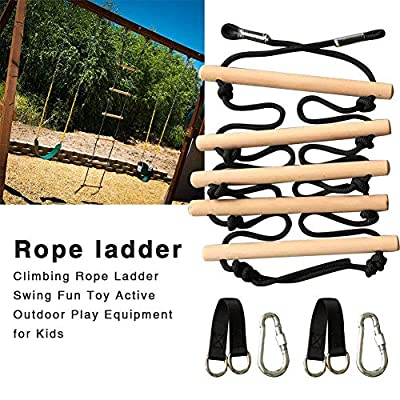 Leiyini Climbing Rope Ladder for Kids,Swing Set Accessories,Climbing Rope Ladder Swing Fun Toy Active Outdoor Play Equipment for Kids for Swing Accessories, Tree House, Playground, Play Set: Home & Kitchen