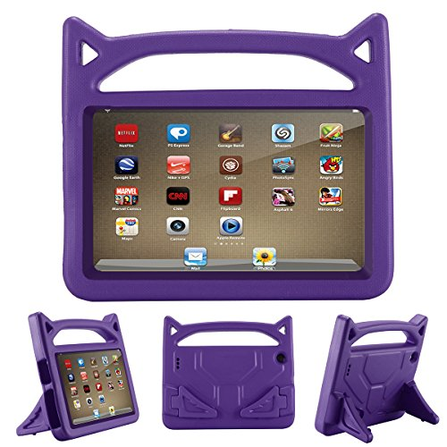 F i r e 7 Tablet Case - ANTIKE Kids Shock Proof Protective Cover Case for A m a z o n F i r e 7 Tablet (Compatible with - Inch Purple Tablet 7 Case