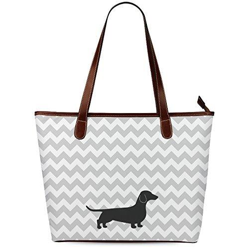 InterestPrint Dachshund Dog Tote Shoulder Bag, used for sale  Delivered anywhere in USA