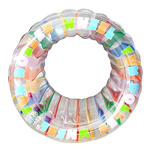 Kids Colorful Inflatable Water Wheel Roller Wheel Pool Float Toy Lots of Fun for Pool, Beach or Lake